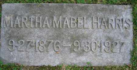HARRIS, MARTHA MABEL - Clark County, Ohio | MARTHA MABEL HARRIS - Ohio Gravestone Photos