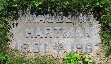HARTMAN, MAUDE W. - Clark County, Ohio | MAUDE W. HARTMAN - Ohio Gravestone Photos