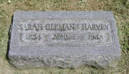 CLEMANS HARVEY, SARAH - Clark County, Ohio | SARAH CLEMANS HARVEY - Ohio Gravestone Photos