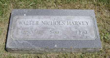 HARVEY, WALTER NICHOLS - Clark County, Ohio | WALTER NICHOLS HARVEY - Ohio Gravestone Photos
