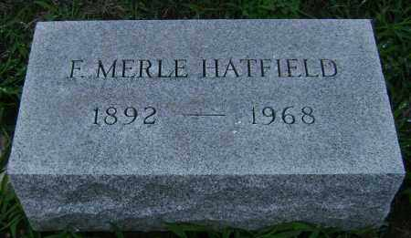 HATFIELD, F. MERLE - Clark County, Ohio | F. MERLE HATFIELD - Ohio Gravestone Photos