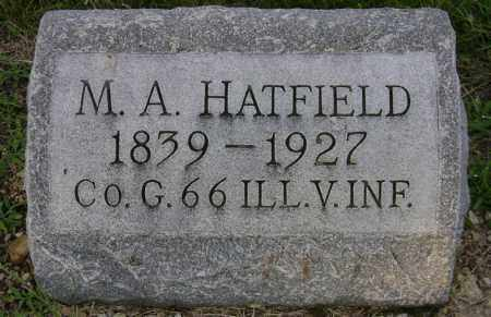A HATFIELD, M. - Clark County, Ohio | M. A HATFIELD - Ohio Gravestone Photos