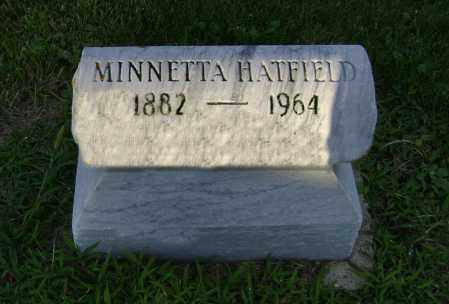 HATFIELD, MINNETTA - Clark County, Ohio | MINNETTA HATFIELD - Ohio Gravestone Photos