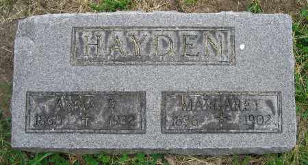 HAYDEN, MARGARET - Clark County, Ohio | MARGARET HAYDEN - Ohio Gravestone Photos