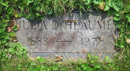 HEAUME, JULIA D. - Clark County, Ohio | JULIA D. HEAUME - Ohio Gravestone Photos