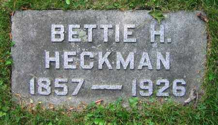 HECKMAN, BETTIE H. - Clark County, Ohio | BETTIE H. HECKMAN - Ohio Gravestone Photos