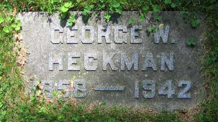 HECKMAN, GEORGE W. - Clark County, Ohio | GEORGE W. HECKMAN - Ohio Gravestone Photos