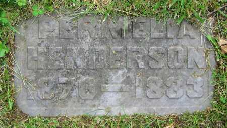HENDERSON, PERMELIA - Clark County, Ohio | PERMELIA HENDERSON - Ohio Gravestone Photos