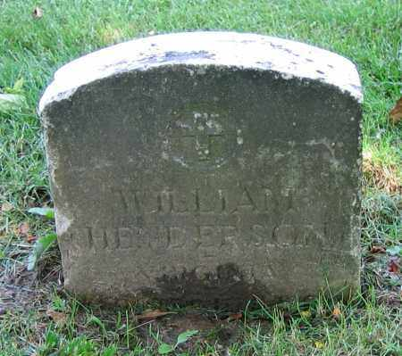 HENDERSON, WILLIAM - Clark County, Ohio | WILLIAM HENDERSON - Ohio Gravestone Photos