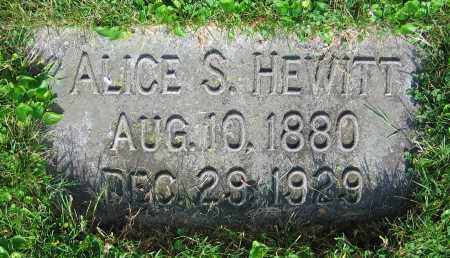 HEWITT, ALICE S. - Clark County, Ohio | ALICE S. HEWITT - Ohio Gravestone Photos