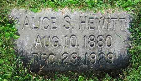 HEWITT, ALICE S. - Clark County, Ohio | ALICE S. HEWITT - Ohio Gravestone Photos