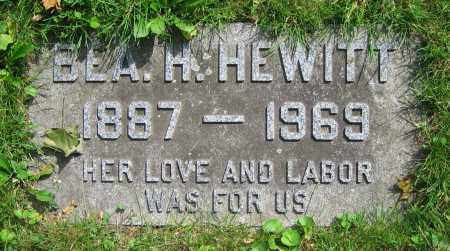 HEWITT, BEA H. - Clark County, Ohio | BEA H. HEWITT - Ohio Gravestone Photos