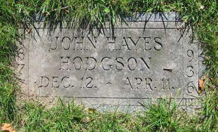 HODGSON, JOHN HAYES - Clark County, Ohio | JOHN HAYES HODGSON - Ohio Gravestone Photos