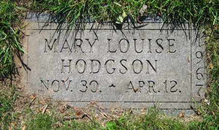 HODGSON, MARY LOUISE - Clark County, Ohio | MARY LOUISE HODGSON - Ohio Gravestone Photos