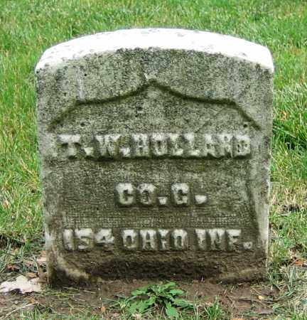 HOLLAND, T.W. - Clark County, Ohio | T.W. HOLLAND - Ohio Gravestone Photos