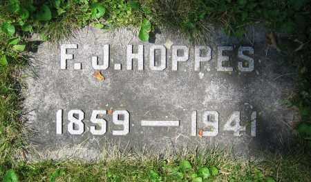 HOPPES, F.J. - Clark County, Ohio   F.J. HOPPES - Ohio Gravestone Photos