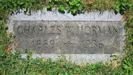 HORMAN, CHARLES W. - Clark County, Ohio | CHARLES W. HORMAN - Ohio Gravestone Photos