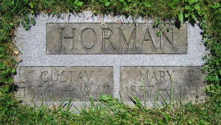 HORMAN, GUSTAVE - Clark County, Ohio | GUSTAVE HORMAN - Ohio Gravestone Photos