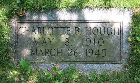 HOUGH, CHARLOTTE B. - Clark County, Ohio | CHARLOTTE B. HOUGH - Ohio Gravestone Photos