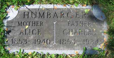 HUMBARGER, CHARLES - Clark County, Ohio | CHARLES HUMBARGER - Ohio Gravestone Photos