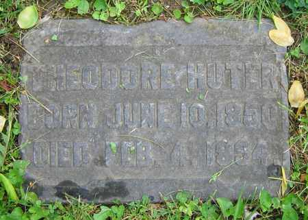 HUTER, THEODORE - Clark County, Ohio | THEODORE HUTER - Ohio Gravestone Photos