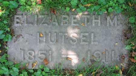 HUTSEL, ELIZABETH M. - Clark County, Ohio | ELIZABETH M. HUTSEL - Ohio Gravestone Photos
