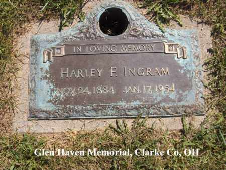 INGRAM, HARLEY - Clark County, Ohio | HARLEY INGRAM - Ohio Gravestone Photos
