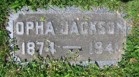 JACKSON, OPHA - Clark County, Ohio | OPHA JACKSON - Ohio Gravestone Photos