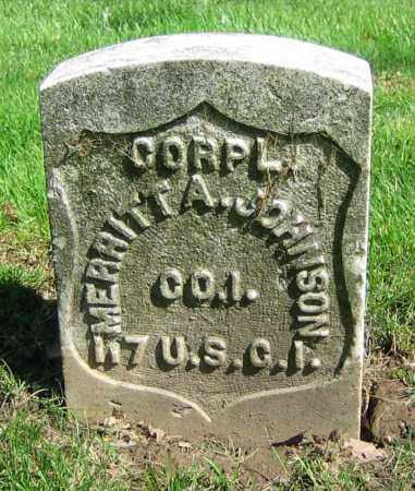 JOHNSON, MERRITT A. - Clark County, Ohio | MERRITT A. JOHNSON - Ohio Gravestone Photos