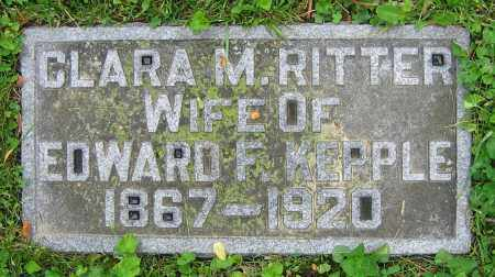 RITTER KEPPLE, CLARA M. - Clark County, Ohio | CLARA M. RITTER KEPPLE - Ohio Gravestone Photos