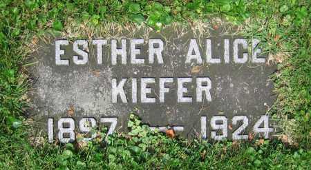 KIEFER, ESTHER ALICE - Clark County, Ohio | ESTHER ALICE KIEFER - Ohio Gravestone Photos