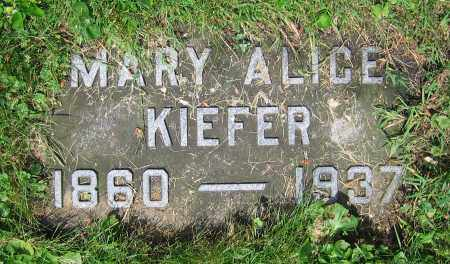 KIEFER, MARY ALICE - Clark County, Ohio | MARY ALICE KIEFER - Ohio Gravestone Photos