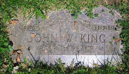 KING, JOHN W. - Clark County, Ohio | JOHN W. KING - Ohio Gravestone Photos