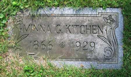 KITCHEN, MINNA G. - Clark County, Ohio | MINNA G. KITCHEN - Ohio Gravestone Photos