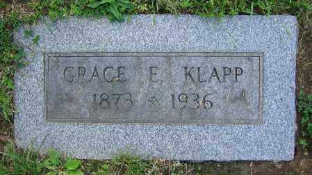 KLAPP, GRACE E. - Clark County, Ohio | GRACE E. KLAPP - Ohio Gravestone Photos