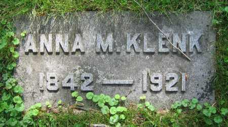 KLENK, ANNA M. - Clark County, Ohio | ANNA M. KLENK - Ohio Gravestone Photos