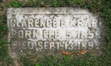 KRAPP, CLARENCE E. - Clark County, Ohio | CLARENCE E. KRAPP - Ohio Gravestone Photos