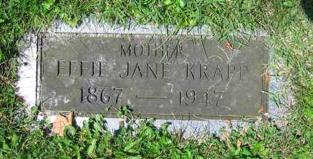 KRAPP, EFFIE JANE - Clark County, Ohio | EFFIE JANE KRAPP - Ohio Gravestone Photos