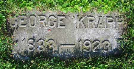 KRAPP, GEORGE - Clark County, Ohio | GEORGE KRAPP - Ohio Gravestone Photos