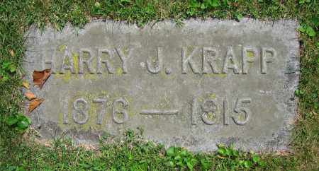 KRAPP, HARRY J. - Clark County, Ohio | HARRY J. KRAPP - Ohio Gravestone Photos