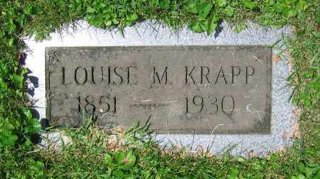 KRAPP, LOUISE M. - Clark County, Ohio | LOUISE M. KRAPP - Ohio Gravestone Photos