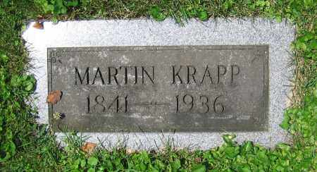 KRAPP, MARTIN - Clark County, Ohio | MARTIN KRAPP - Ohio Gravestone Photos