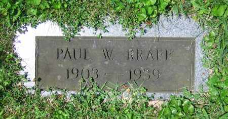 KRAPP, PAUL W. - Clark County, Ohio | PAUL W. KRAPP - Ohio Gravestone Photos