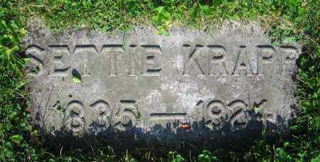 KRAPP, SETTIE - Clark County, Ohio | SETTIE KRAPP - Ohio Gravestone Photos