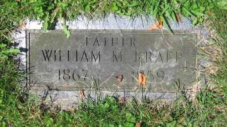 KRAPP, WILLIAM M. - Clark County, Ohio | WILLIAM M. KRAPP - Ohio Gravestone Photos