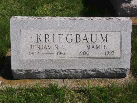 KRIEGBAUM, BENJAMIN E. - Clark County, Ohio | BENJAMIN E. KRIEGBAUM - Ohio Gravestone Photos