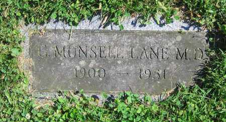 LANE  M.D., G. MUNSELL - Clark County, Ohio | G. MUNSELL LANE  M.D. - Ohio Gravestone Photos