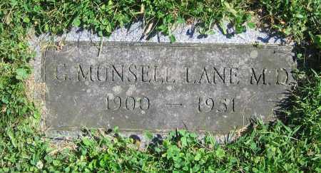 LANE  M.D., G. MUNSELL - Clark County, Ohio   G. MUNSELL LANE  M.D. - Ohio Gravestone Photos
