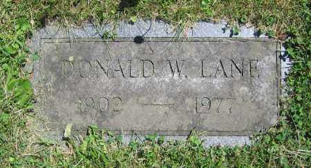 LANE, DONALD W. - Clark County, Ohio | DONALD W. LANE - Ohio Gravestone Photos
