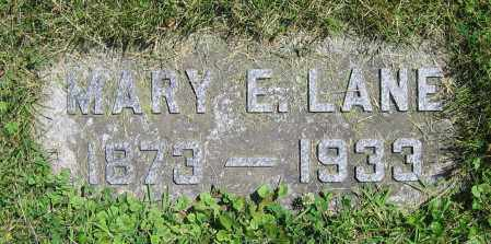 LANE, MARY E. - Clark County, Ohio | MARY E. LANE - Ohio Gravestone Photos
